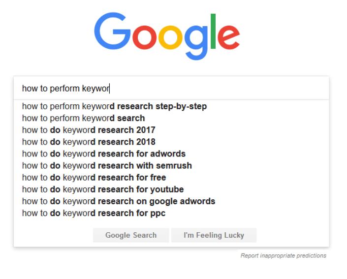 Google Autopredict Example