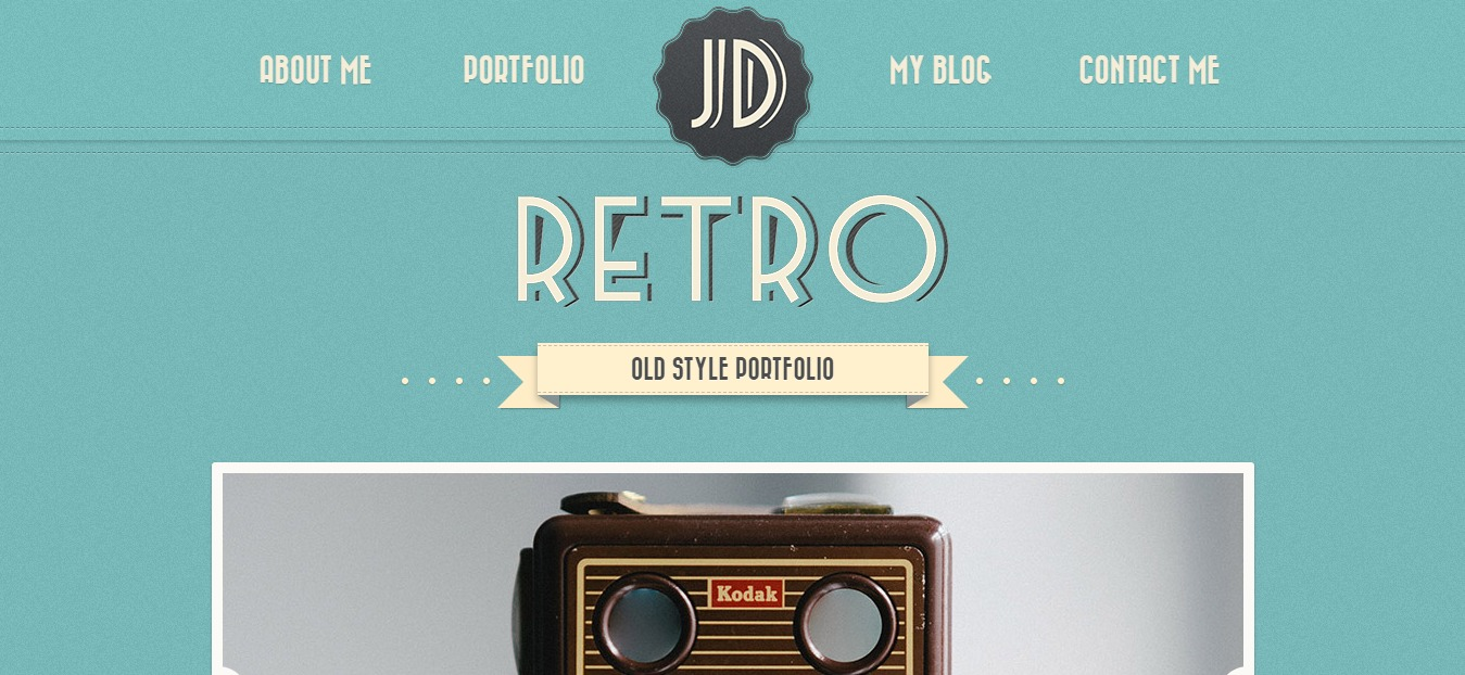 retro portfolio one page wordpress theme