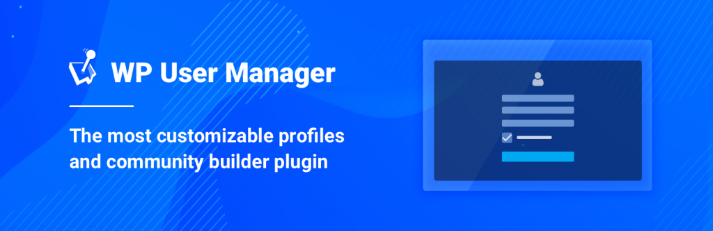Banner image for the WordPress membership plugin WP User Manager