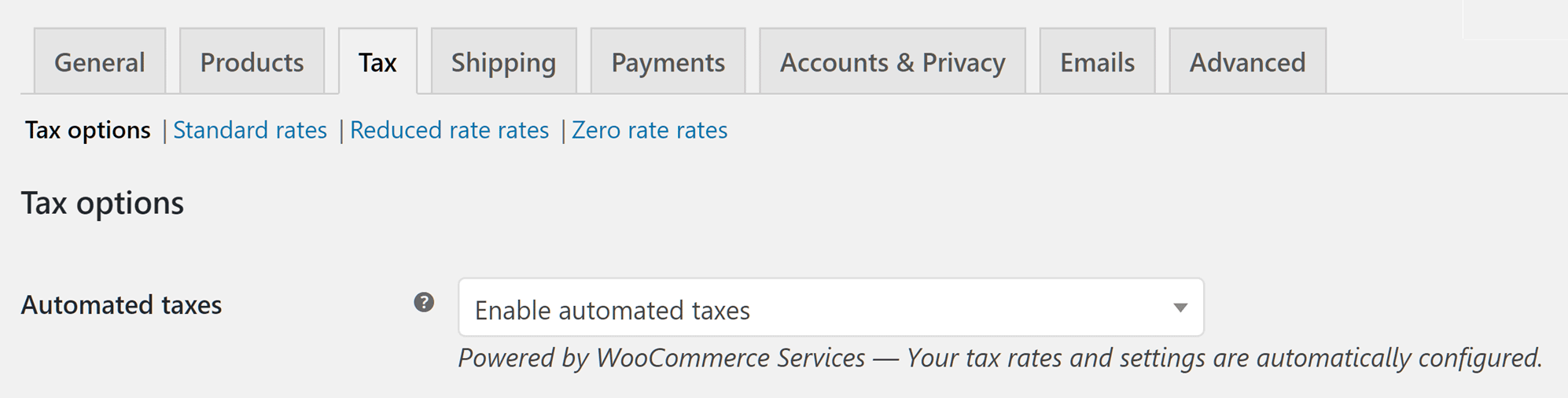 Auto Generated Taxes