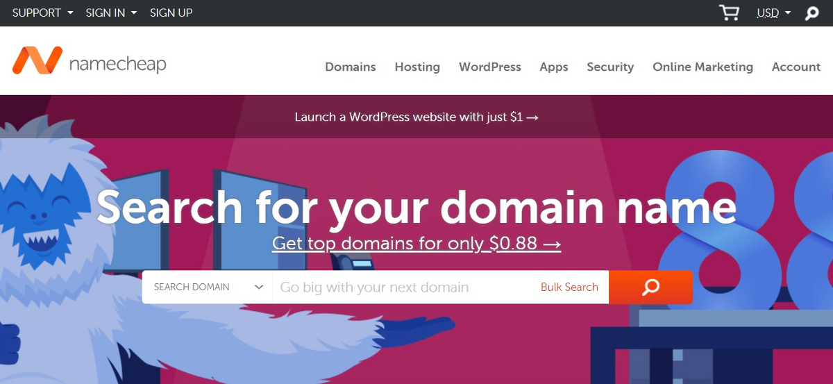 buy cheap domain names at namecheap