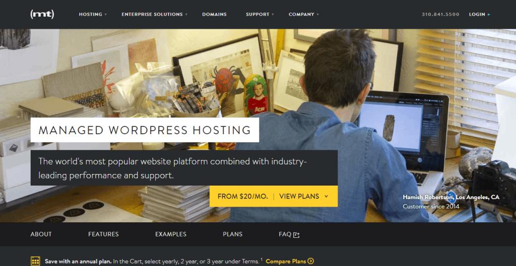 Media Temple managed WordPress hosting