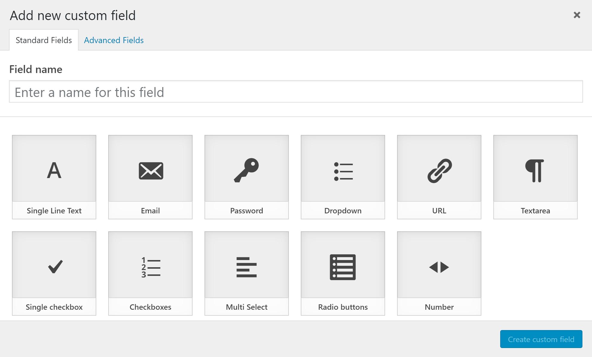 Custom Fields Add-on