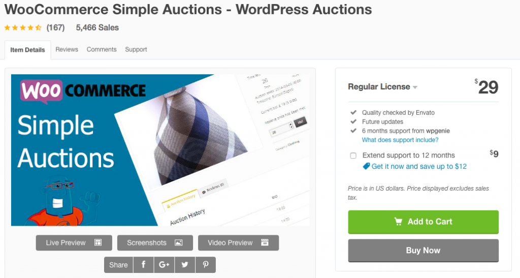 WooCommerce Simple Auction plugin banner image