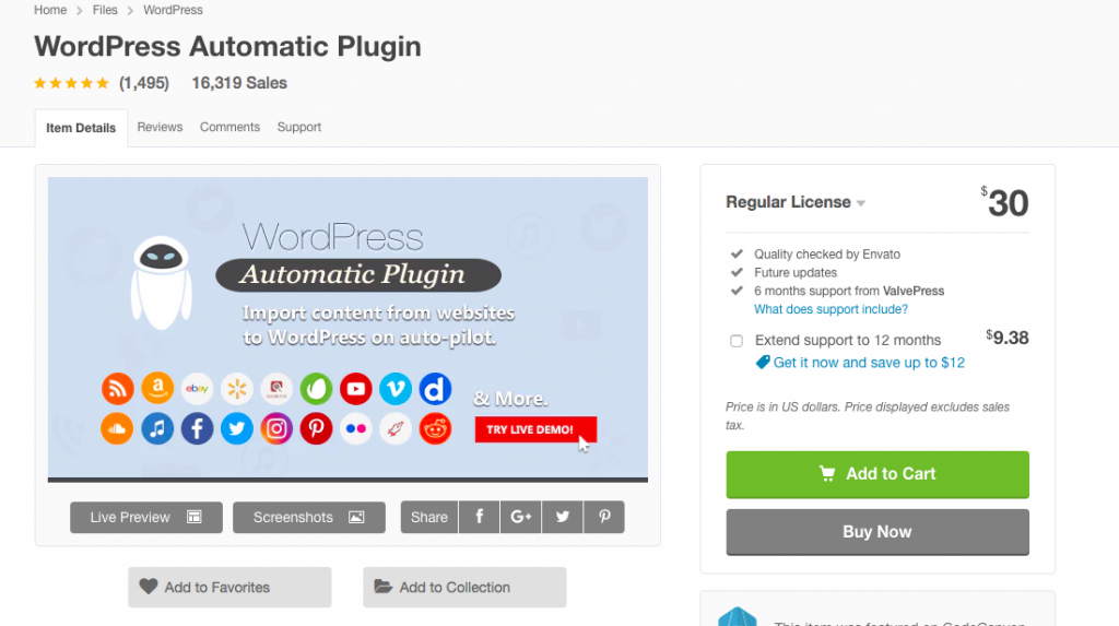 WordPress automatic Ticket Auctions plugin banner image