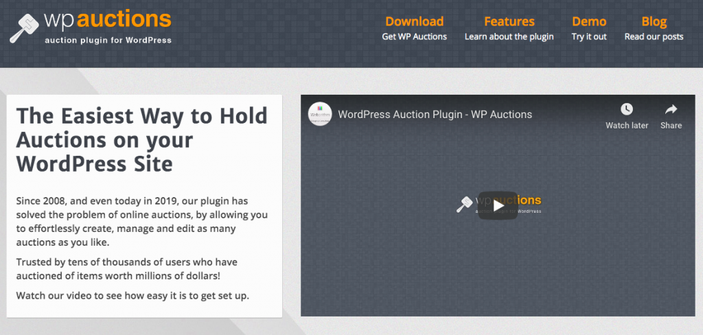 WPAuctions Ticket Auctions plugin banner image