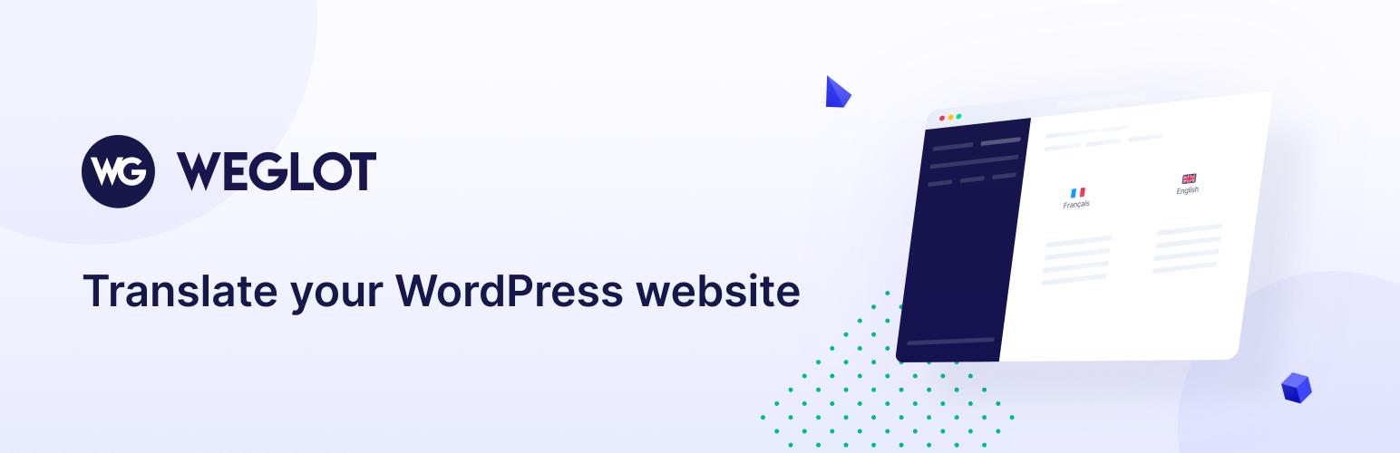 Banner image for WordPress translation plugin Weglot