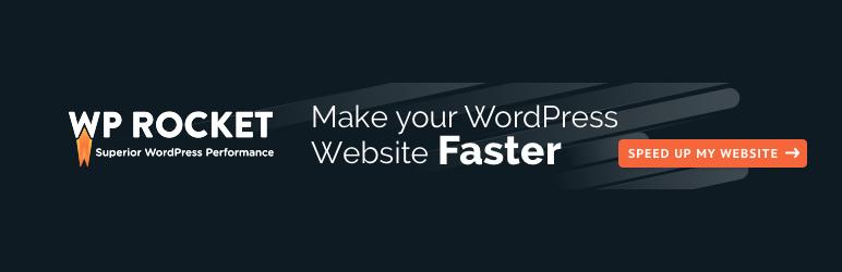Banner image for WordPress caching plugin WP Rocket