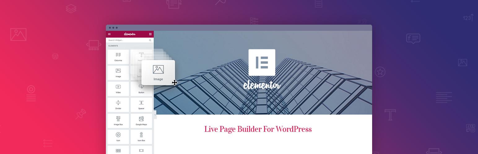 Banner image for WordPress page builder plugin Elementor