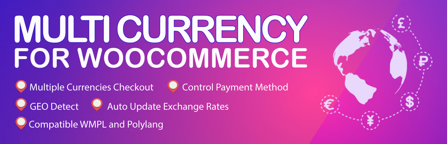 Banner image for the WordPress WooCommerce plugin multicurrency