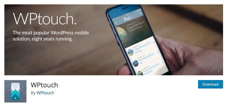 WPTouch Banner plugin image